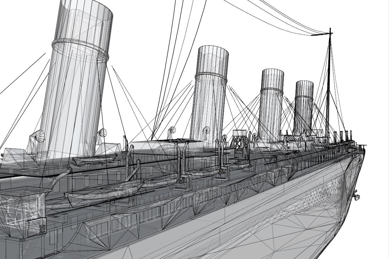 titanic 3d model 3ds dxf dwg skp obj 163730