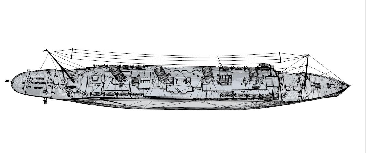 titanic 3d model 3ds dxf dwg skp obj 163732