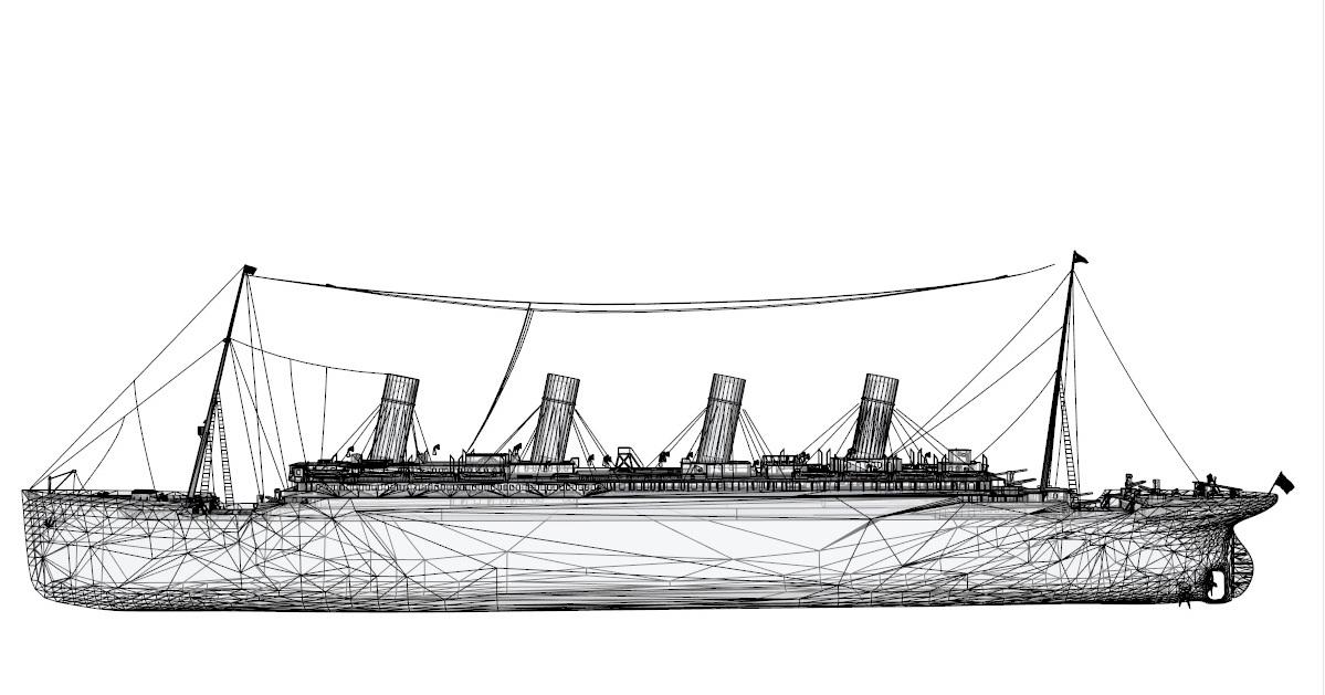 Titanic 3d model 3ds dxf dwg  obj 163731