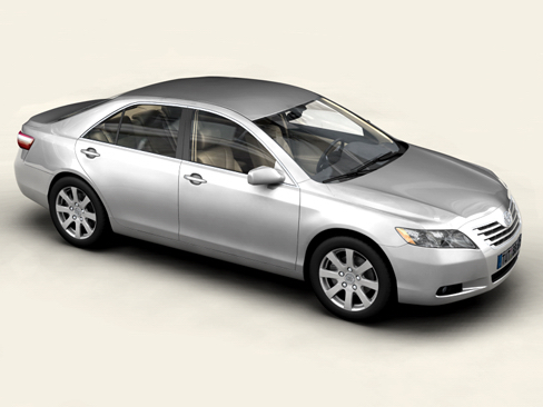 toyota camry 2007 3d model 3ds max obj 158655