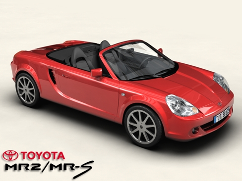 toyota mr2 mrs 3d модел 3ds max obj 158683