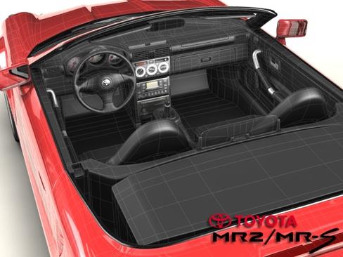 toyota mr2 gđa 3d model 3ds max obj 158687