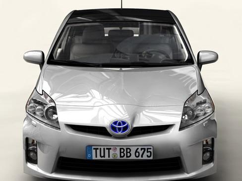 toyota prius 2010 low res interior 3d model 3ds max c4d lwo ma mb obj 158711
