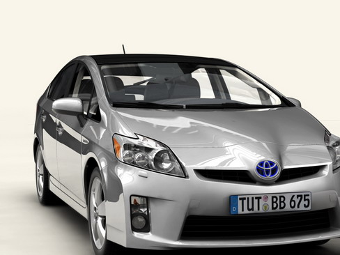 toyota prius 2010 low res interior 3d model 3ds max c4d lwo ma mb obj 158712