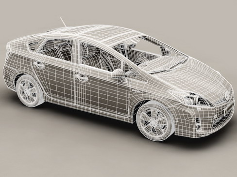 toyota prius 2010 low res interior 3d model 3ds max c4d lwo ma mb obj 158713