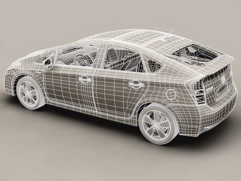 toyota prius 2010 low res interior 3d model 3ds max c4d lwo ma mb obj 158714