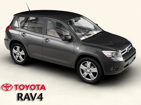 toyota rav4 3d model 3ds max obj 158715