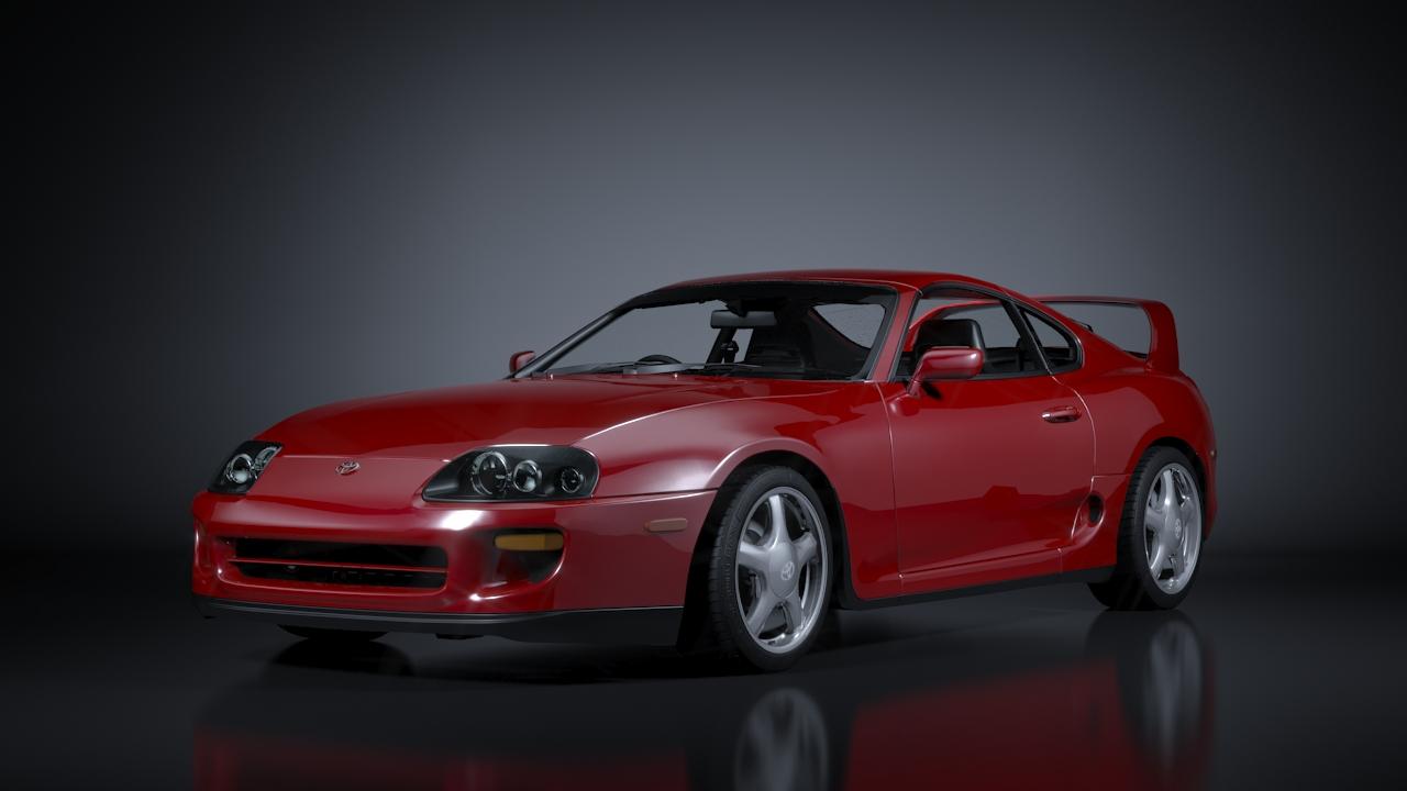 toyota supra 1998 3d model 3ds max fbx c4d 138348