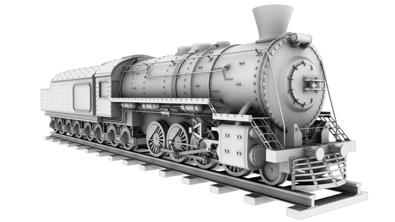 train engine 3d model obj 129029