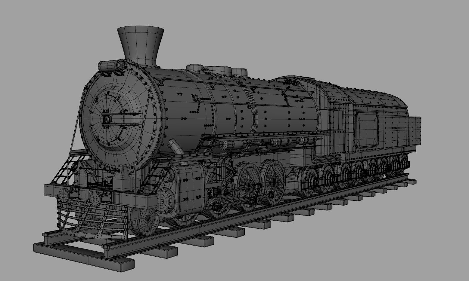 train engine 3d model obj 129030
