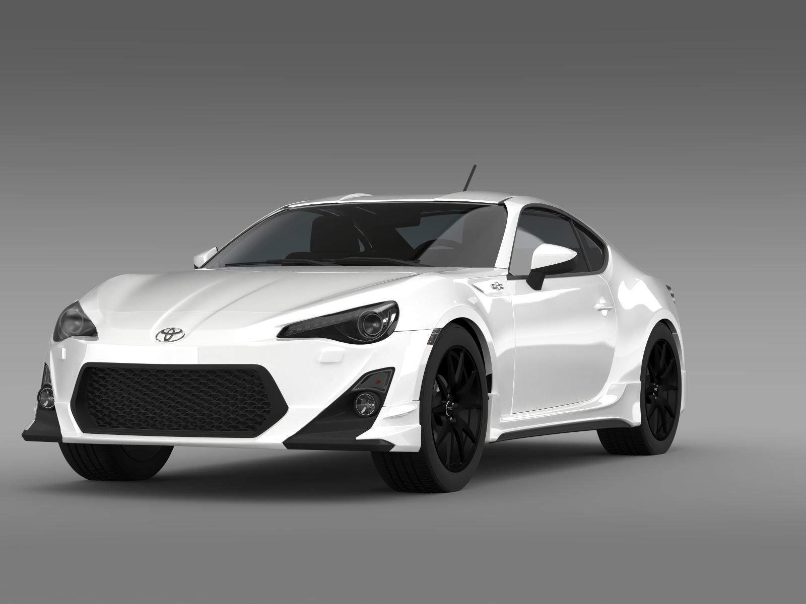 trd toyota gt 86 2014 3d model flatpyramid. Black Bedroom Furniture Sets. Home Design Ideas