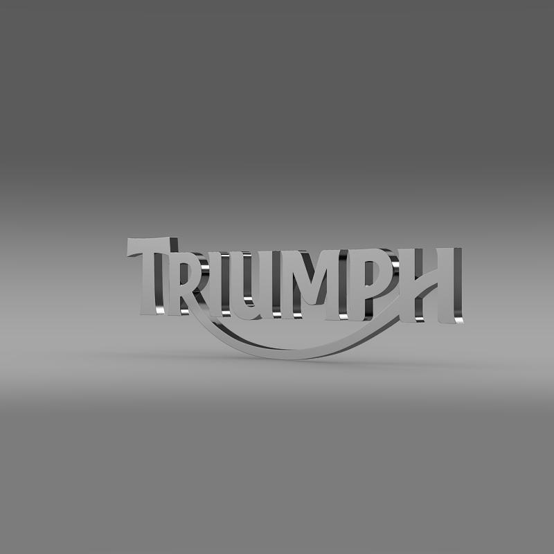 triumph 3d logo 3d model 3ds max fbx c4d ma mb hrc xsi obj 150272