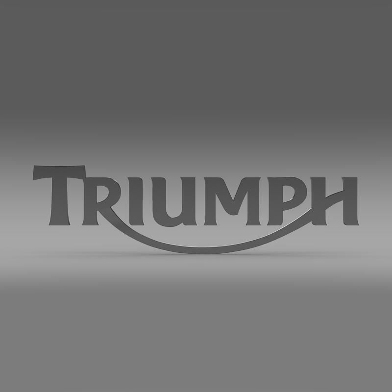 triumph 3d logo 3d model 3ds max fbx c4d ma mb hrc xsi obj 150273