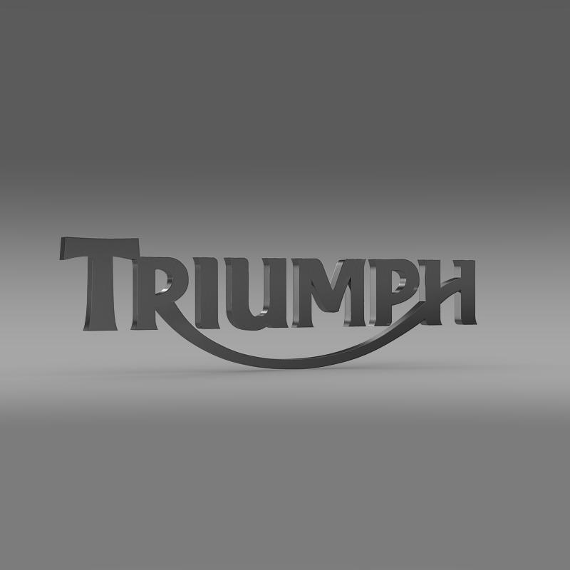 triumph 3d logo 3d model 3ds max fbx c4d ma mb hrc xsi obj 150274