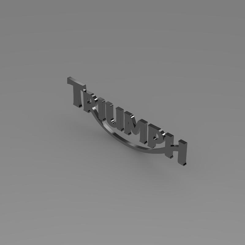 triumph 3d logo 3d model 3ds max fbx c4d ma mb hrc xsi obj 150275