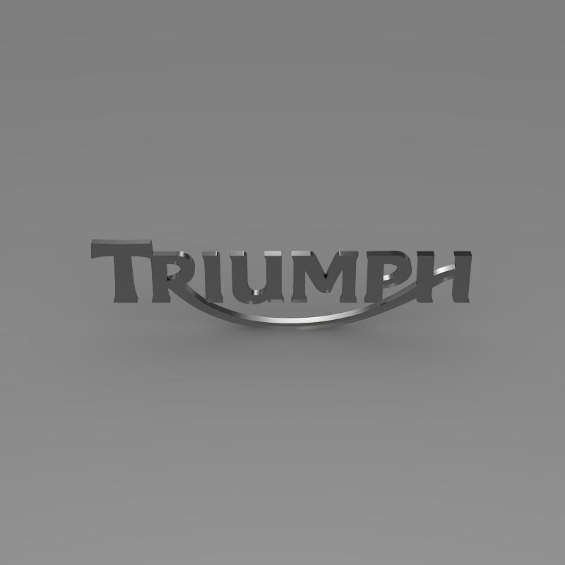 triumph 3d logo 3d model 3ds max fbx c4d ma mb hrc xsi obj 150276