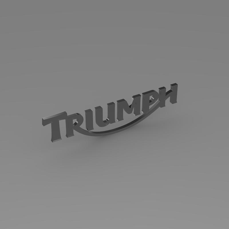 triumph 3d logo 3d model 3ds max fbx c4d ma mb hrc xsi obj 150277