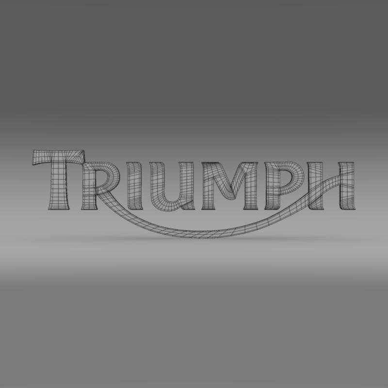 triumph 3d logo 3d model 3ds max fbx c4d ma mb hrc xsi obj 150278