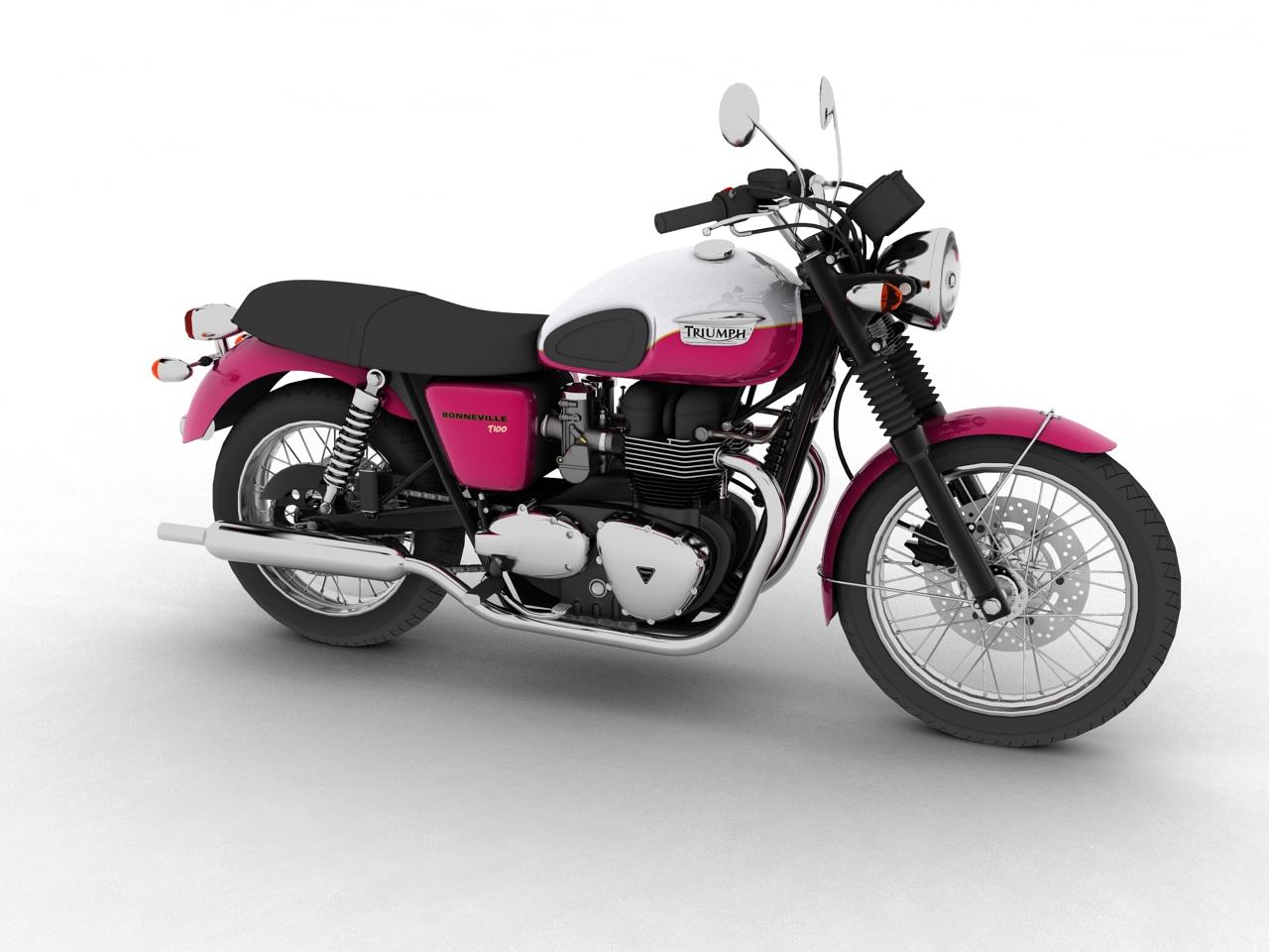 triumph bonneville t100 2012 3d model 3ds max c4d obj 152099