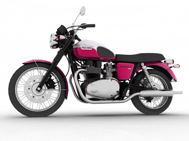 triumph bonneville t100 2012 3d model 3ds max c4d obj 152100