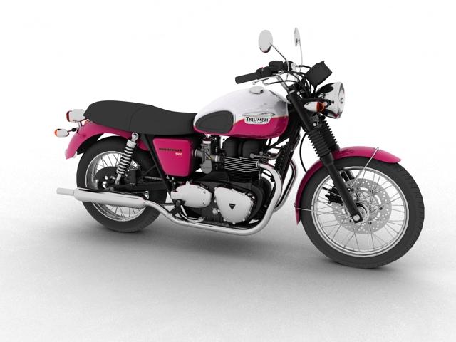 triumph bonneville t100 2012 3d model 3ds max c4d obj 152101