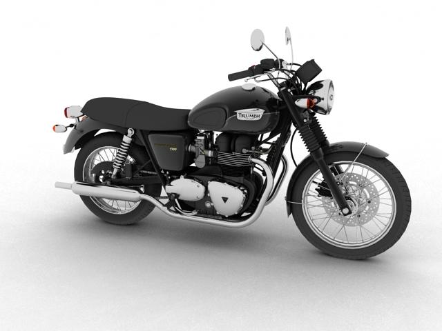 triumph bonneville t100 2012 3d model 3ds max c4d obj 152102