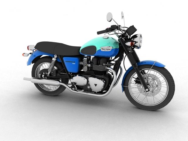triumph bonneville t100 2012 3d model 3ds max c4d obj 152103