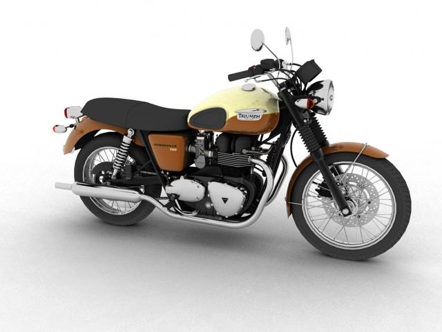 triumph bonneville t100 2012 3d model 3ds max c4d obj 152104