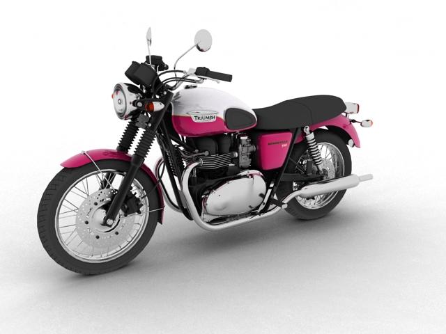 triumph bonneville t100 2012 3d model 3ds max c4d obj 152105