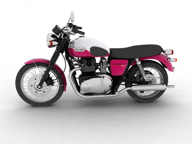 triumph bonneville t100 2012 3d model 3ds max c4d obj 152106
