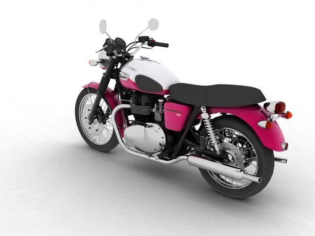 triumph bonneville t100 2012 3d model 3ds max c4d obj 152107