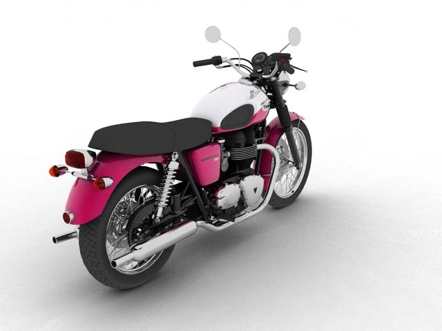triumph bonneville t100 2012 3d model 3ds max c4d obj 152109