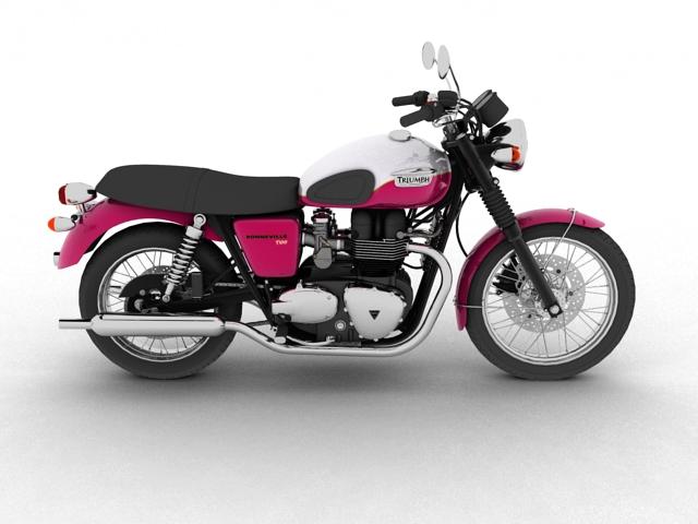 triumph bonneville t100 2012 3d model 3ds max c4d obj 152110