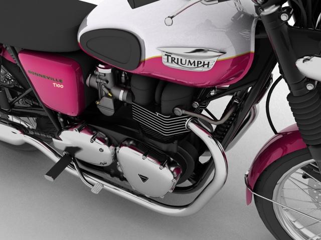triumph bonneville t100 2012 3d model 3ds max c4d obj 152111