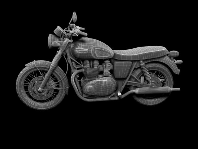 triumph bonneville t100 2012 3d model 3ds max c4d obj 152121