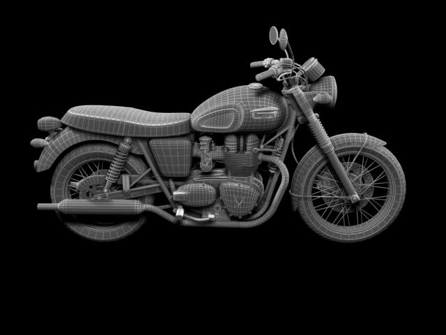 triumph bonneville t100 2012 3d model 3ds max c4d obj 152125