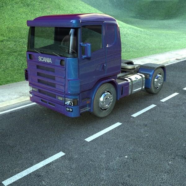 truck scania 420 high detail 3d model max fbx obj 131681