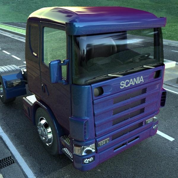 truck scania 420 high detail 3d model max fbx obj 131684