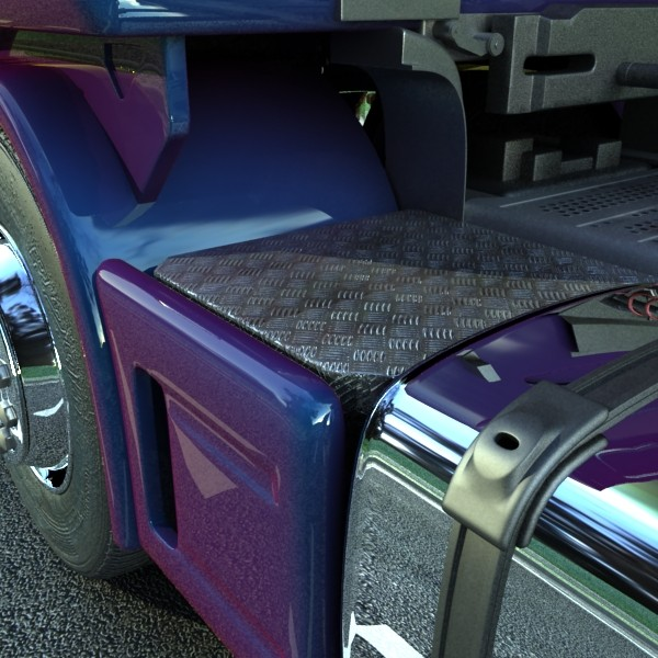 truck scania 420 high detail 3d model max fbx obj 131690