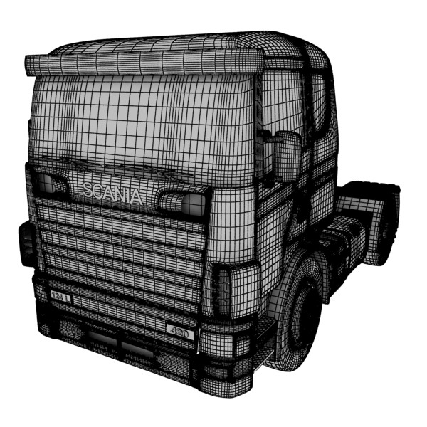 truck scania 420 high detail 3d model max fbx obj 131696