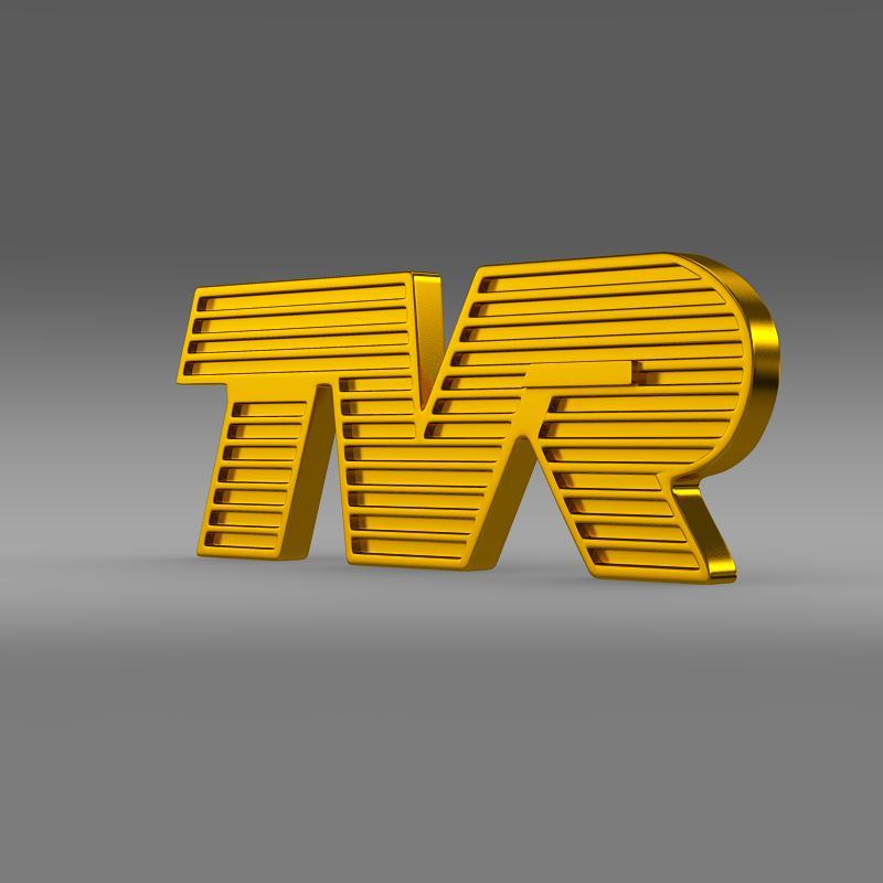 tvr logo 3d model 3ds max fbx c4d lwo ma mb hrc xsi obj 134213