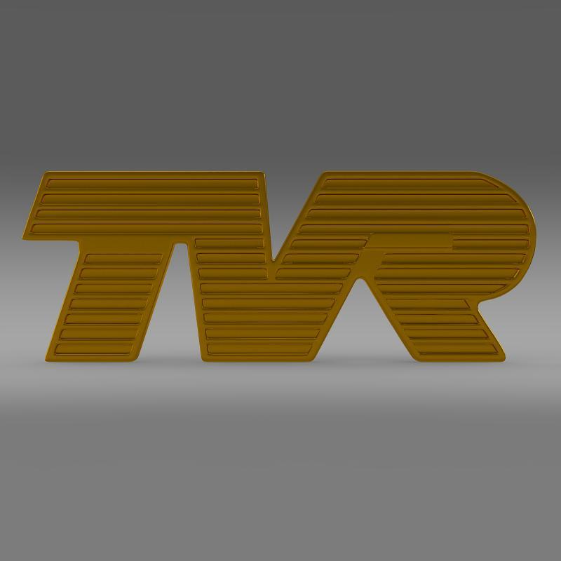 tvr logo 3d model 3ds max fbx c4d lwo ma mb hrc xsi obj 134214