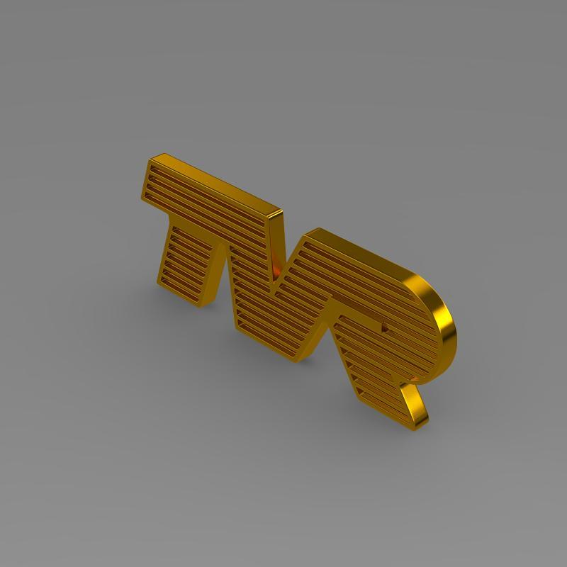 tvr logo 3d model 3ds max fbx c4d lwo ma mb hrc xsi obj 134216