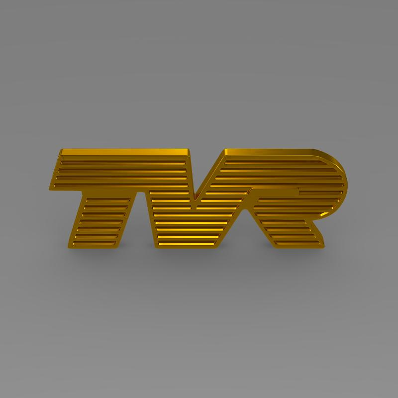tvr logo 3d model 3ds max fbx c4d lwo ma mb hrc xsi obj 134217