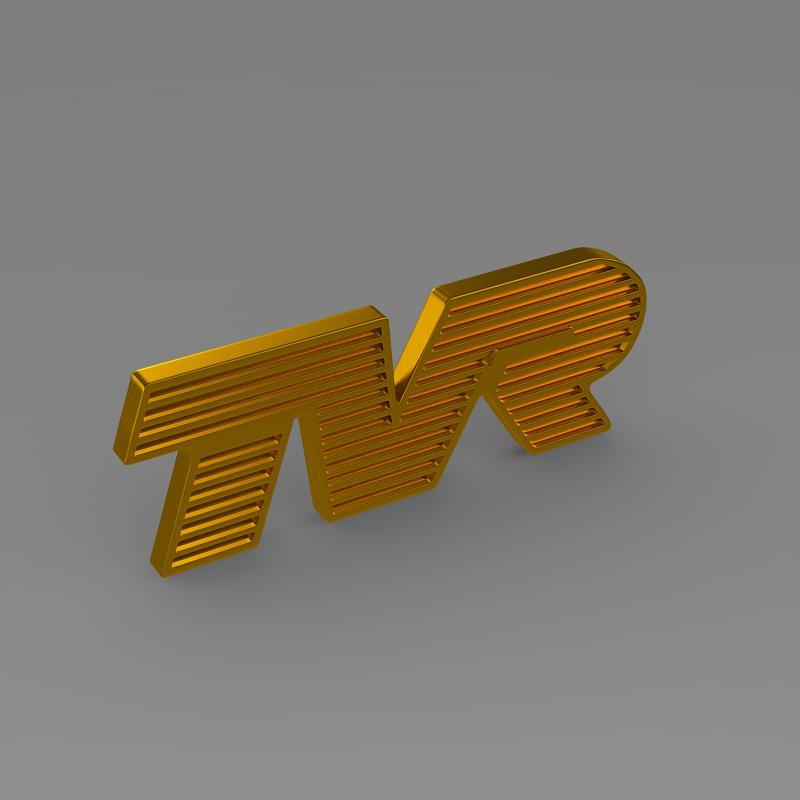 tvr logo 3d model 3ds max fbx c4d lwo ma mb hrc xsi obj 134218
