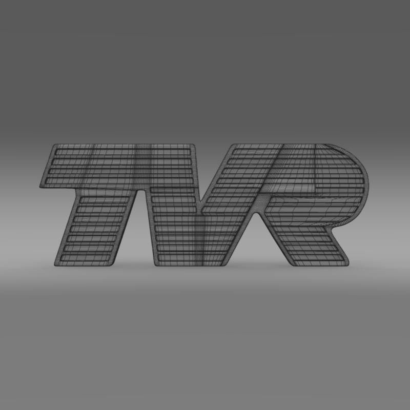 tvr logo 3d model 3ds max fbx c4d lwo ma mb hrc xsi obj 134219