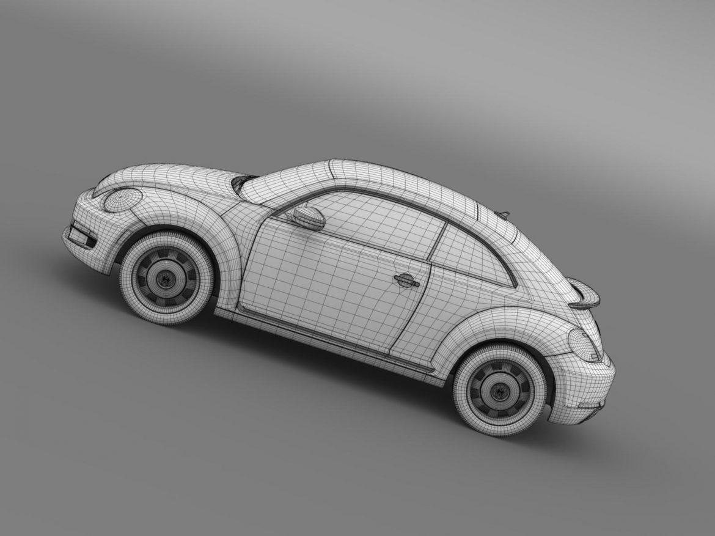 volkswagen beetle classic 2015 3d model 3ds max fbx c4d lwo ma mb hrc xsi obj 164490