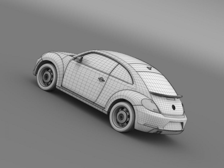 volkswagen beetle classic 2015 3d model 3ds max fbx c4d lwo ma mb hrc xsi obj 164491