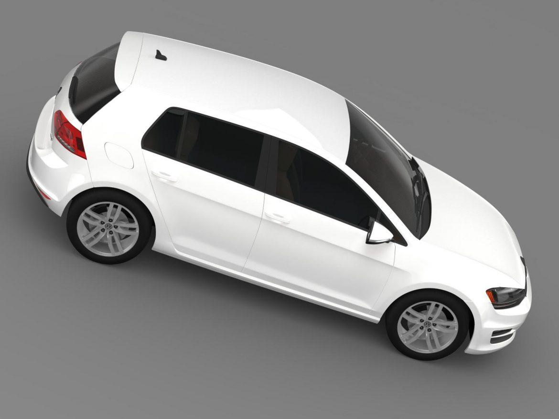 volkswagen golf tdi 5d 2015 3d model 3ds max fbx c4d lwo ma mb hrc xsi obj 165000