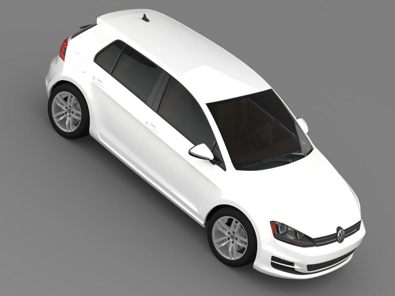 volkswagen golf tdi 5d 2015 3d model 3ds max fbx c4d lwo ma mb hrc xsi obj 165001